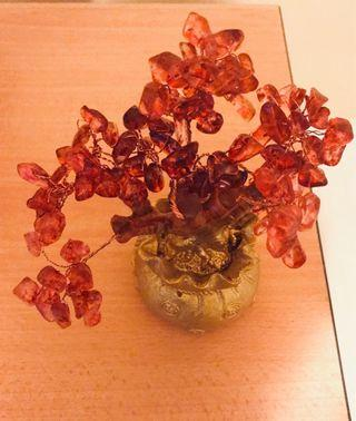 Red crystal tree