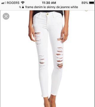 "Frame white jeans ""Le skinny de Jeanne"" size 25"