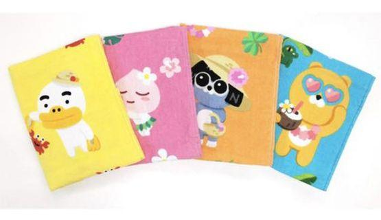 [PO] KAKAO FRIENDS HAND FACE BODY TOWEL BATH RYAN APEACH TUBE NEO