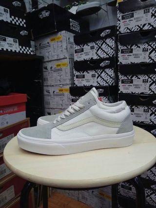 Sepatu Vans Old Skool Off White Ice Grey