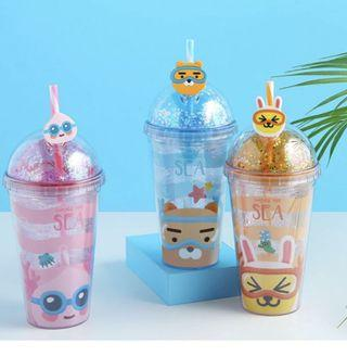 [PO] KAKAO FRIENDS UNDER THE SEA TUMBLER WATER BOTTLE MUG GLASS