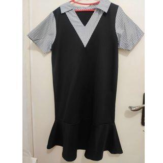 Dress kemeja hitam preloved