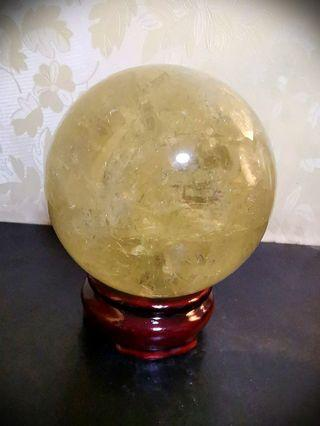 Offer!! Natural Citrine Quartz Crystal Ball 🌈!