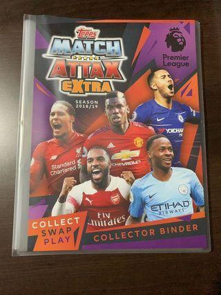 Match Attax 18/19 EPL Extra binder set(80% complete)