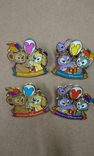 香港迪士尼交換襟章pin ~~ cookie and friends $78 @ 4 (包郵