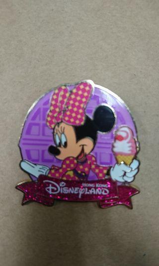 香港迪士尼樂園交換襟章徽章Disney pin ~~ minnie