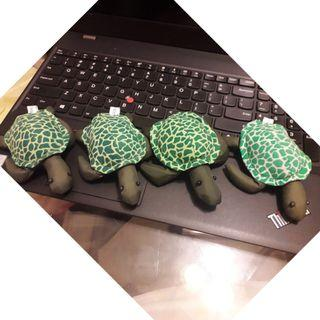Handmade Bean bag doll FELLY THE GREEN SEA TURTLE 綠海龜 豆袋  made in Thailand $25隻 包郵