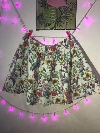 Floral skirt big size