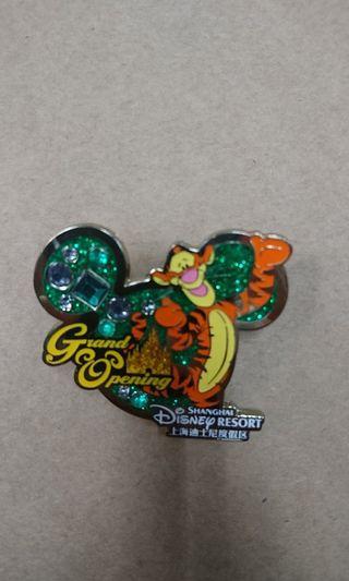 上海迪士尼樂園交換襟章徽章Disney pin ~~ Tigger