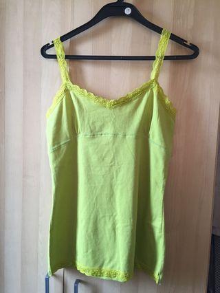 Bright Green Lace Strap Top