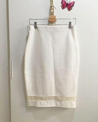 Broken White Skirt Dorothy Perlins Size L