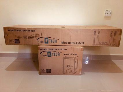 Home Theatre System with Woofer (Home ETech 5.1 audio system)