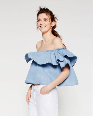 NWT Zara Off-Shoulder Top