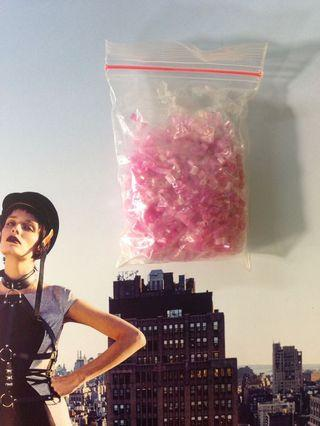 #BAPAU payet jepang warna pink (batang)