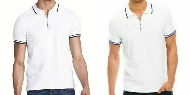 AX Armani Exchange Premium Pima Zipper Polo Shirt