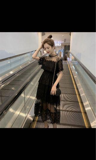 🚚 中大尺碼 蕾絲紗裙 蛋糕裙
