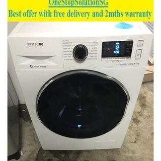 Samsung (8.0kg / 6.0kg) Washer Dryer 2-in-1 ($520+ free delivery and 2mths warranty)