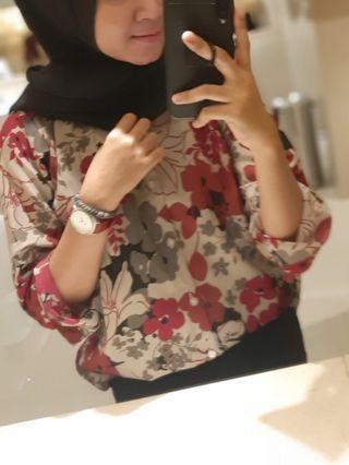 Floral Top, kemeja wanita