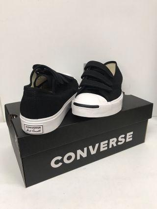 CONVERSE JACK PURCELL VELCO BLACK AND WHITE