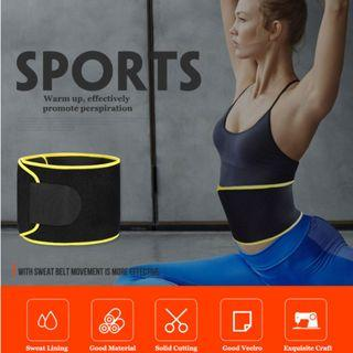 Unisex Sports Waist Trimmer Belt Sweat Wrap Tummy Stomach Weight Loss Fat Burner Slimming