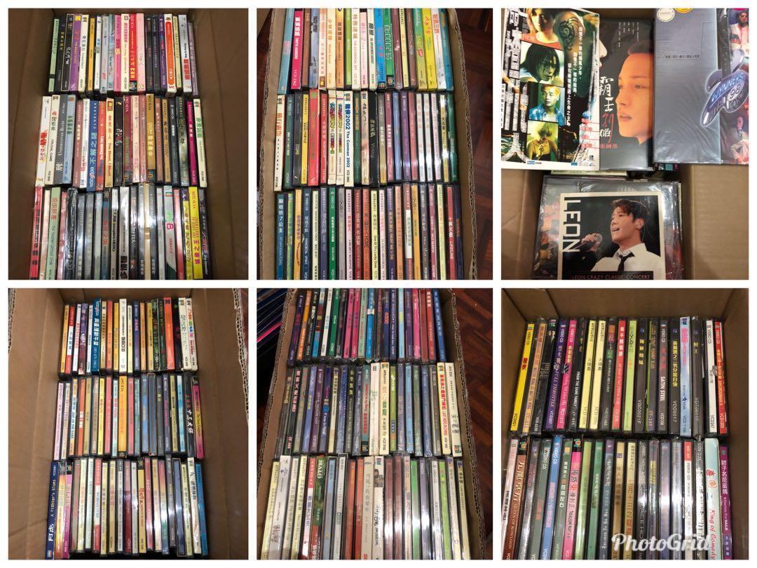 500多套大部份絕版八丶九十年代港產片,電視劇VCD及陪份絕版演唱會VCD
