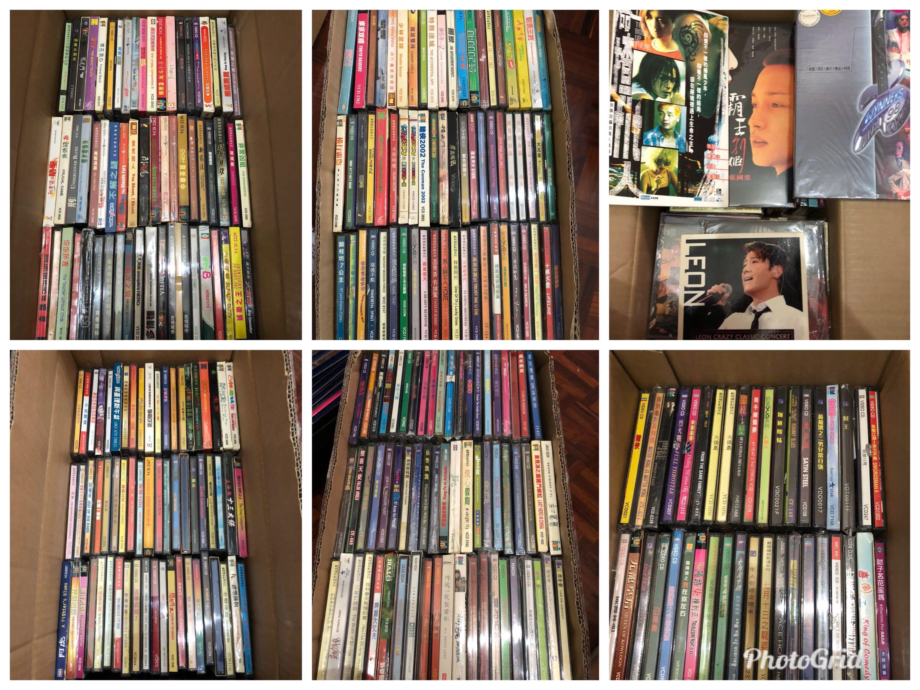 (7March   2019 )500多套大部份絕版八丶九十年代港產片,電視劇VCD及陪份絕版演唱會VCD