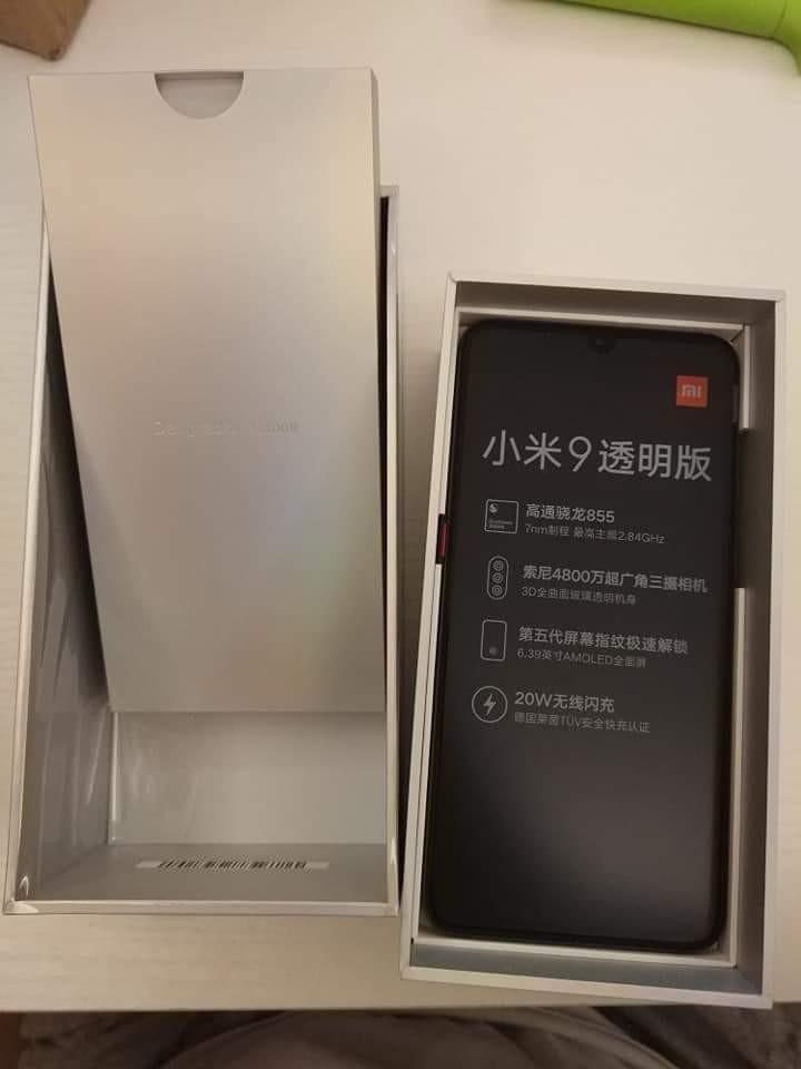 小米9透明版99%全套12x256GB可交换