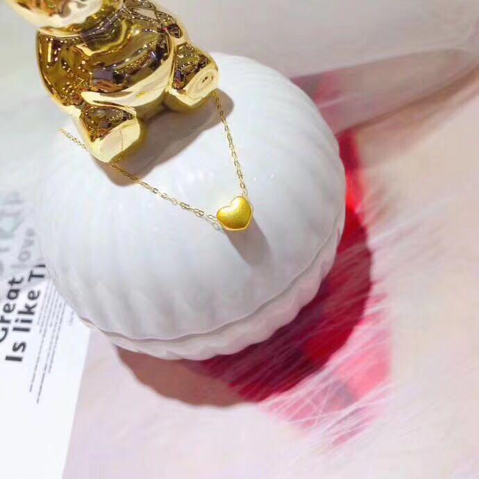 黃金999愛心 + 18金鍊