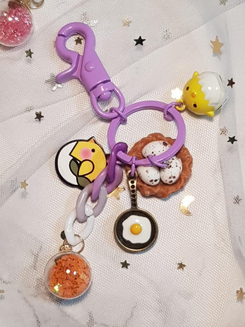 【手作】小雞吊飾鑰匙圈