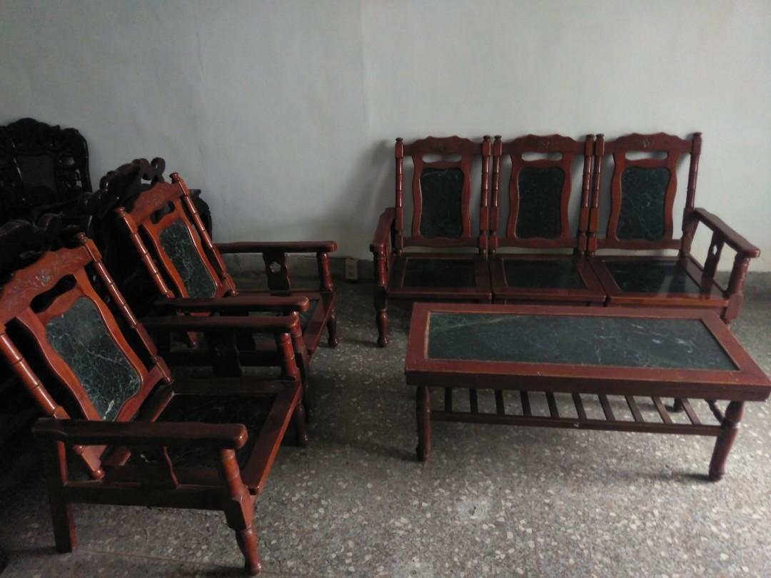 早期大理石桌椅
