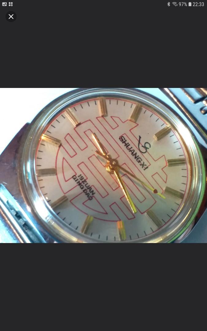 雙喜牌, 青島製造, 手動上鏈, 連錶的約34mm, 淨錶, 二手, 新淨