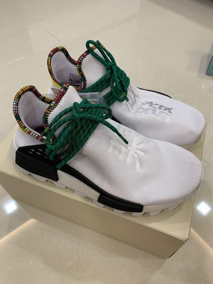 sports shoes 156a4 d5f63 Adidas Pharrell William Human Race white bolt/Green, Women's ...