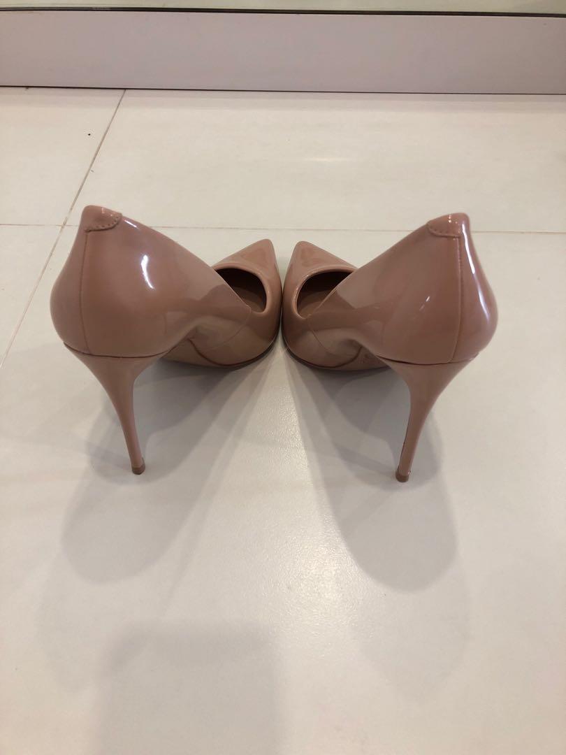 aldo nude pink heels