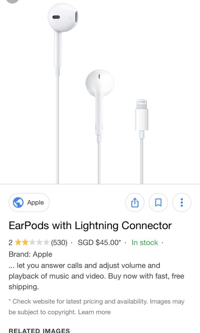 Apple iPhone lighting earpiece