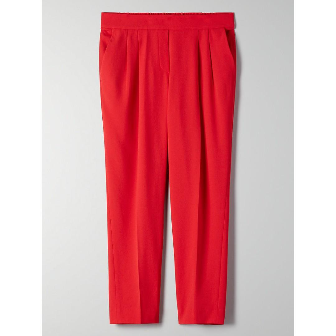 Aritzia Babaton Cohen Pant Terado Size 00 and 0 in Lillooet (Red) Colour