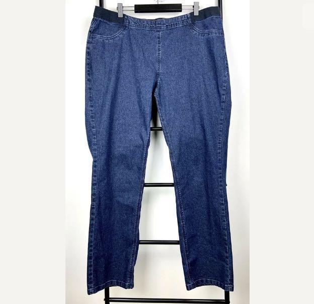 Autograph sz 18 blue denim women jeans pants jegging stretch plus size casual