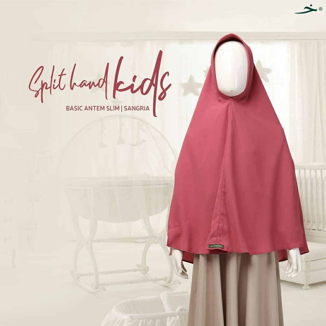 Basic antem split hand khimar by khadijah indonesia