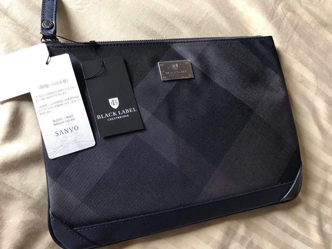 Black label clutch (black)