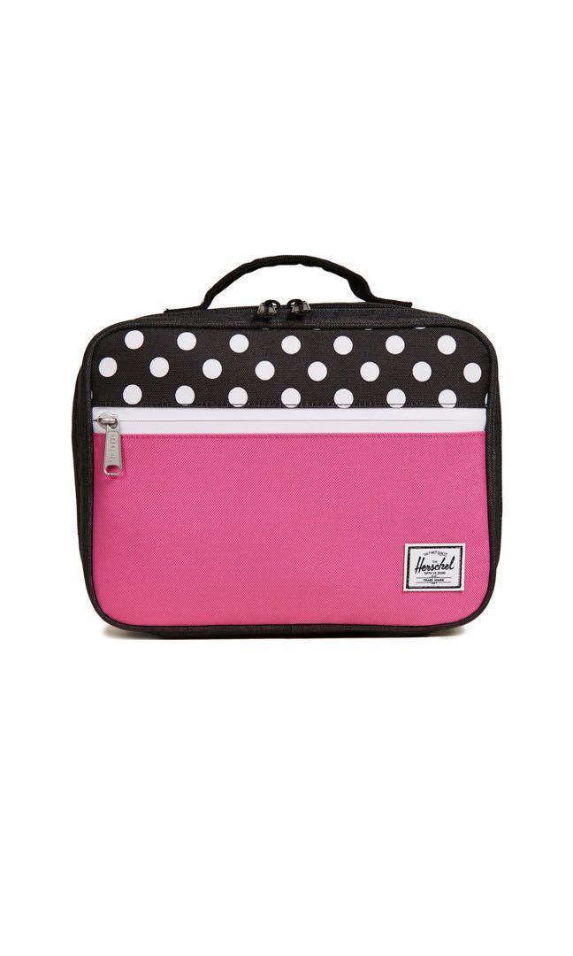 BNWT Herschel Pop Quiz Lunchbox Pink