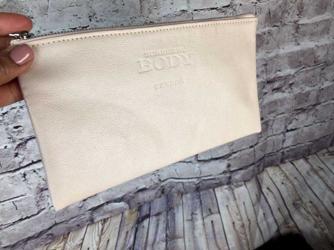 Burberry Body Tender Ladies Cosmetic Make Up Bag Pouch Beige