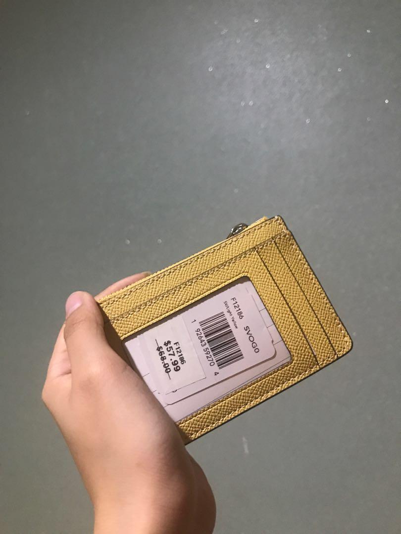Card holder COACH kuning