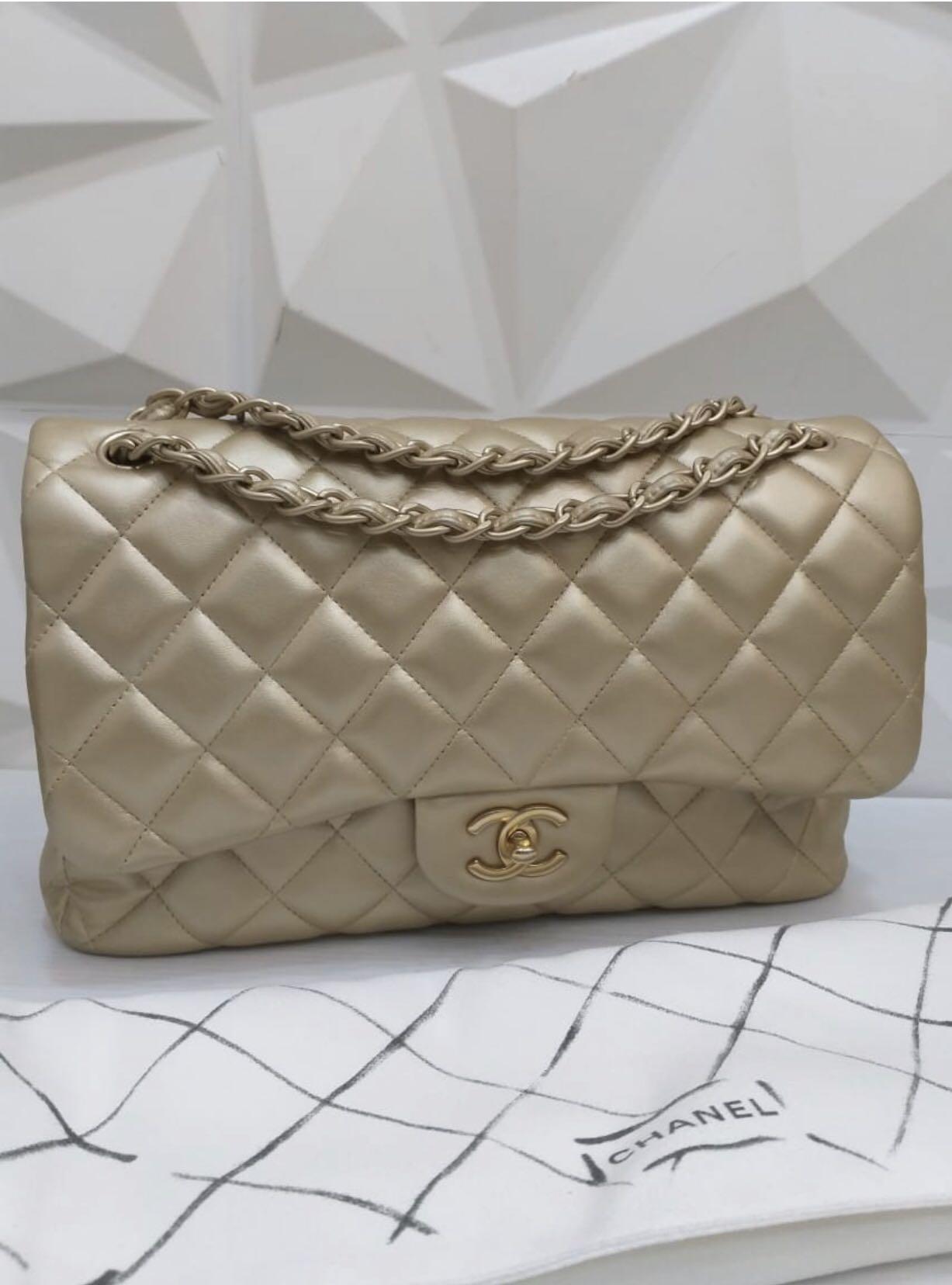 Chanel Bag Jumbo Champagne
