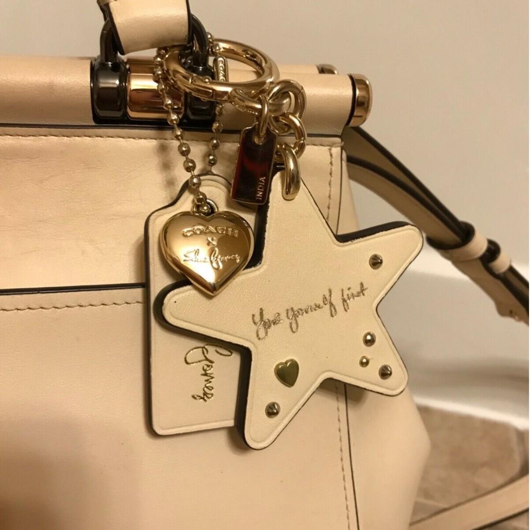 COACH x Selena Gomez  White Grace bag + Star chain included