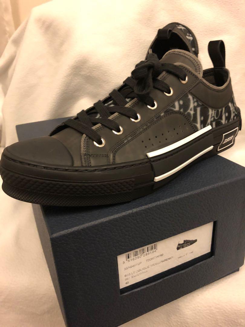 Dior Homme B23 Black Oblique Sneaker