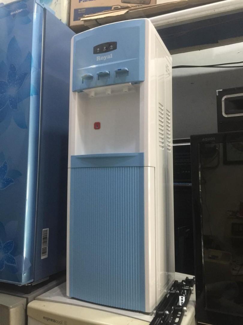 Dispenser Royal, 3 Kran, Panas, Normal, Dingin Es, Pakai Kompresor
