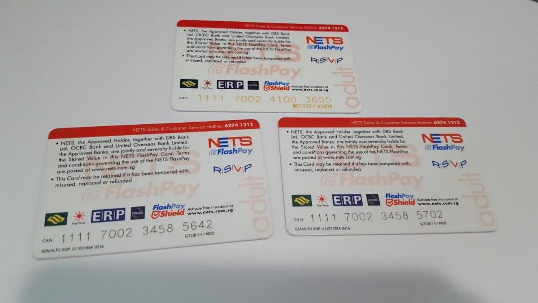 EZ Link / NETS Flash Pay Cards 3for10 or 1for5