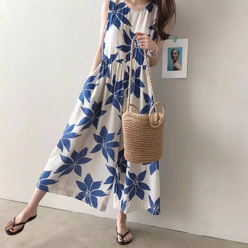 Florence Big Flowers Flare Jumpsuit