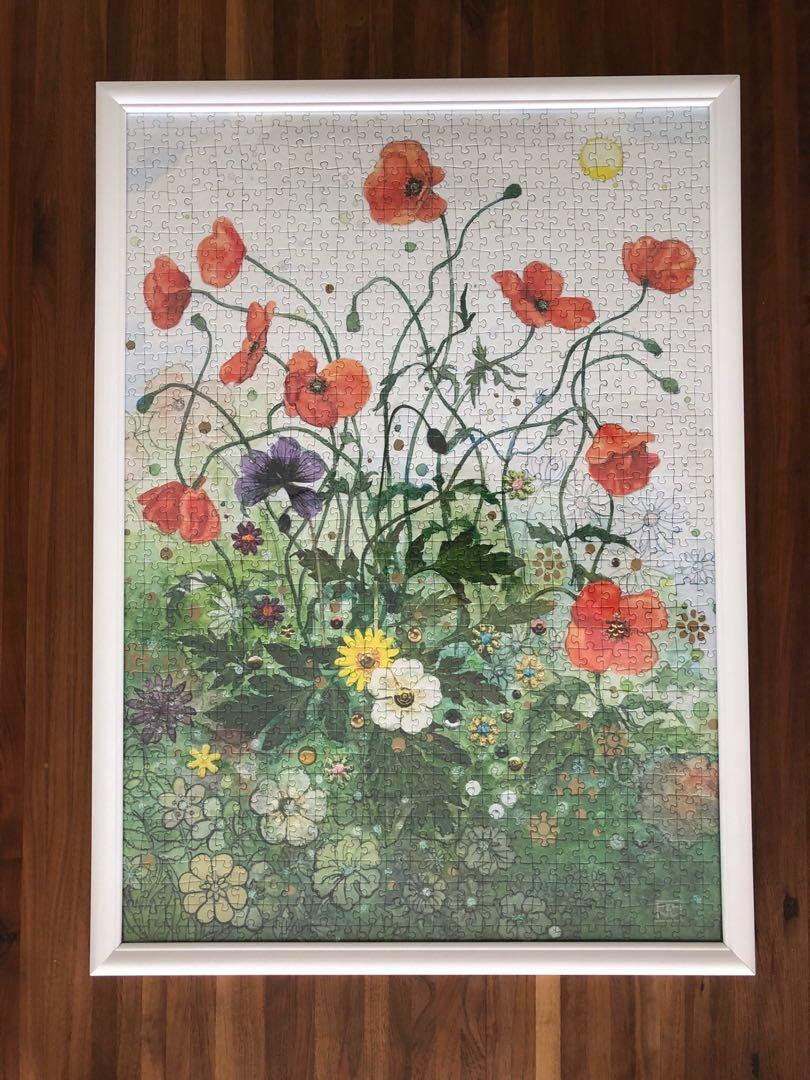 Flower puzzle with frame