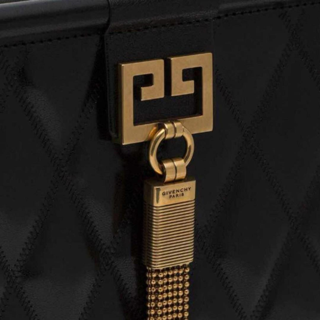 **FREE Delivery** (Direct Import from Europe) Givenchy Black Gem Medium Quilted Leather Shoulder Bag Women