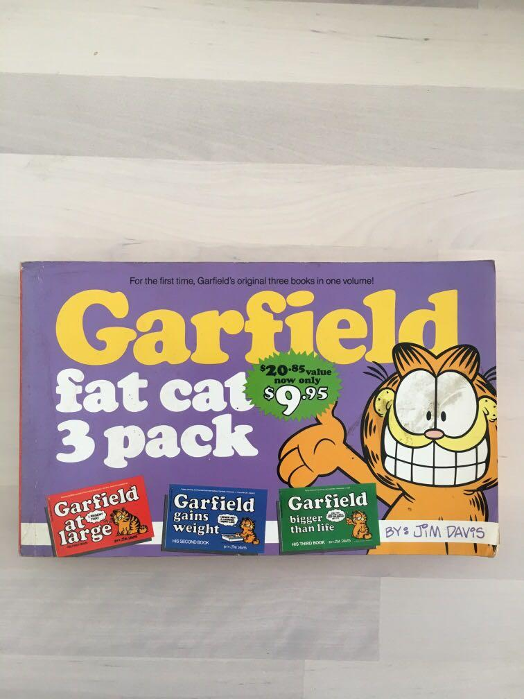 Garfield Fat Cat 3 Pack 3 In 1 Bumper 1993 Books Stationery Comics Manga On Carousell